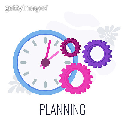 Planning and time management infographics pictogram. System for success.