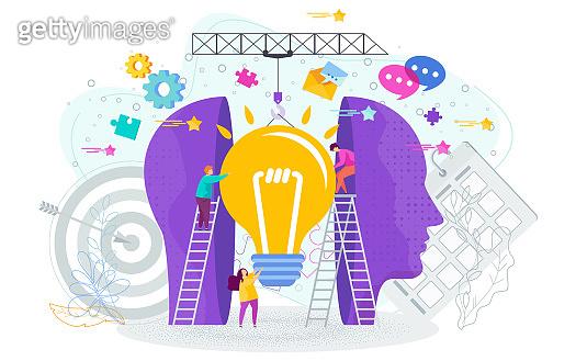 Success knowledge concept. Outstanding mind, creative idea