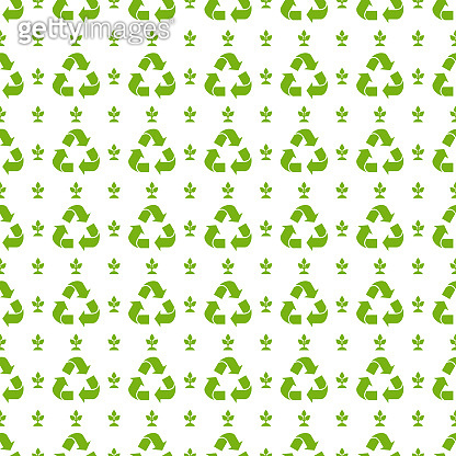 Recycle ecology Seamless pattern. Flat vector illustration.