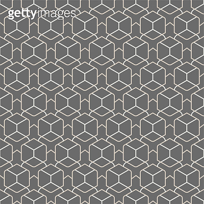 Repetitive Islamic Graphic Polygon, Wallpaper Texture. Repeat Ramadan Vector Symmetrical Repetition Pattern. Continuous White