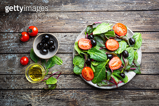 Healthy leaves mix salad