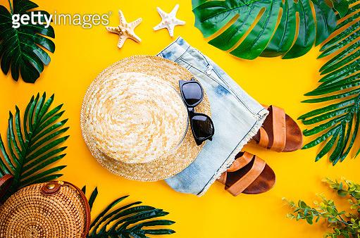 Summer holiday flat lay