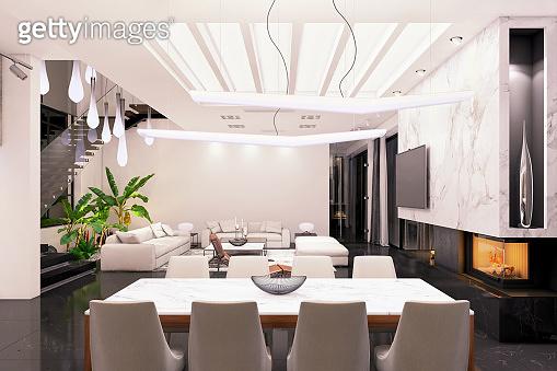 Modern luxury villa interior
