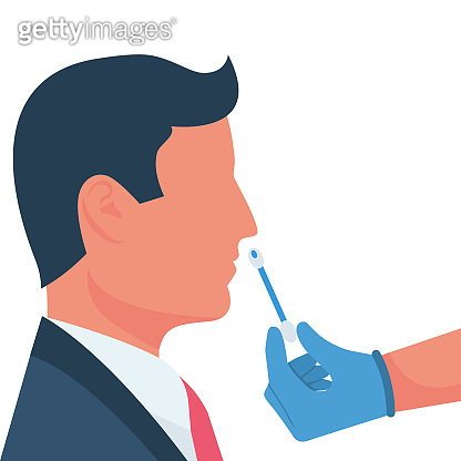 Nasal swab laboratory test. Study of patients