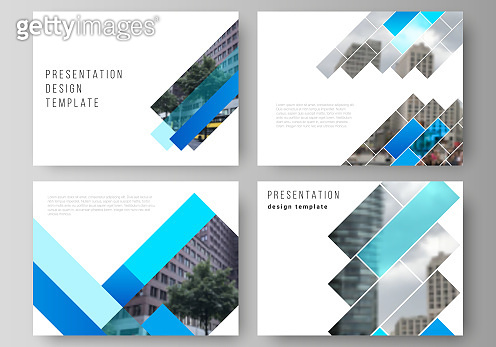 The minimalistic abstract vector illustration of the editable layout of the presentation slides design business templates. Abstract geometric pattern creative modern blue background with rectangles.