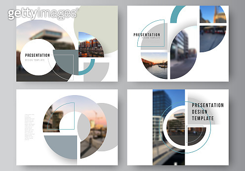 Vector layout of the presentation slides design business templates, multipurpose template for presentation brochure. Background with abstract circle round banners. Corporate business concept template