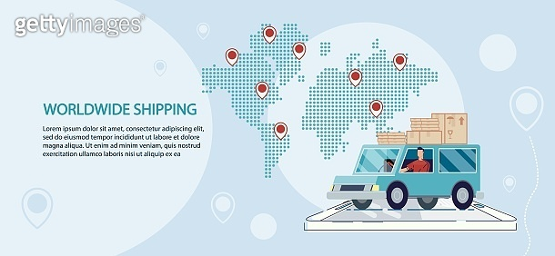 Worldwide Truck Shipping Service Advertisement