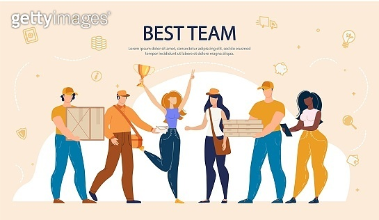 Man Woman Best Team Working in Delivery Service