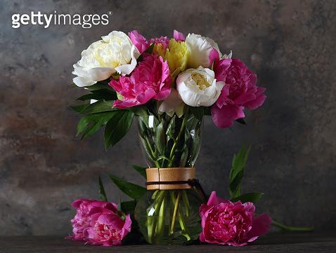 still life peonies flowers