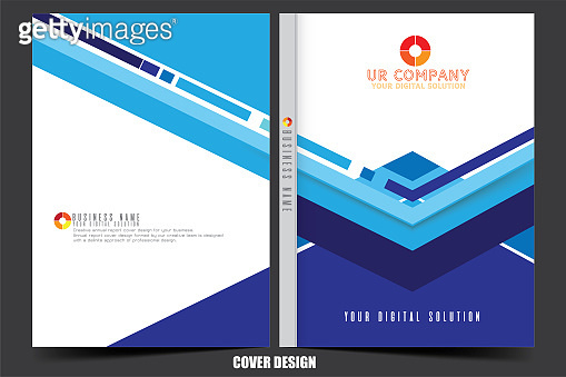 Annual report cover for your business design