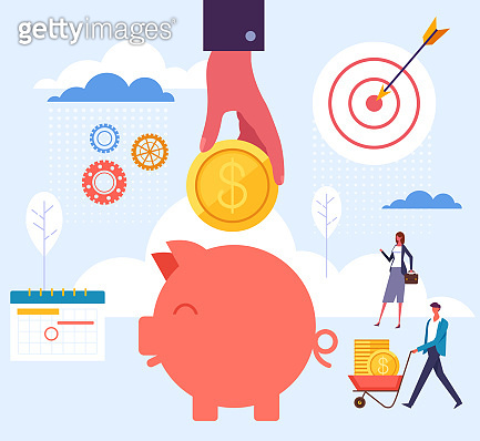 Account banking savings service concept. Vector flat graphic design cartoon illustration