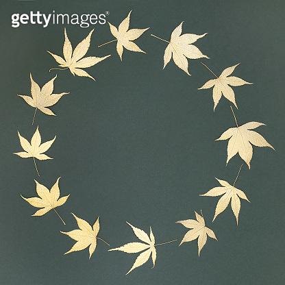 Golden Acer Leaf Wreath