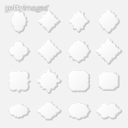Abstract frames set background