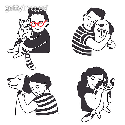 Children with pet set