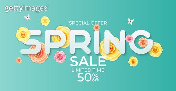 Natural Light Flower Spring Sale Background. Vector Illustration