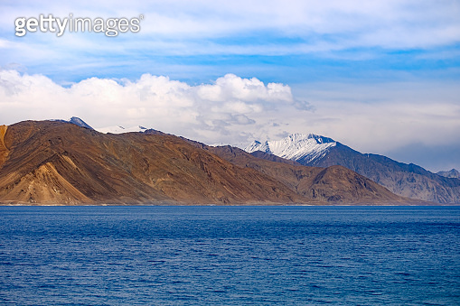 Landscape view of Pangong Lake (Pangong Tso)