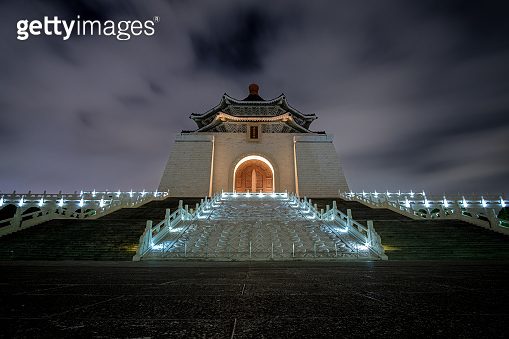Night scenery of The National Chiang Kai-Shek Memorial Hall