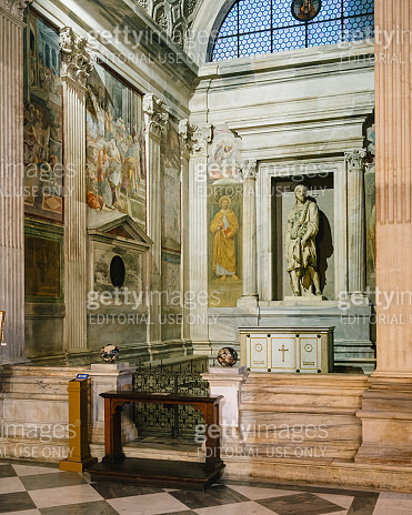 italy, rome, piazza navona, church of nostra signora del sacro cuore (our lady of the sacred heart) also known as san giacomo degli spagnoli