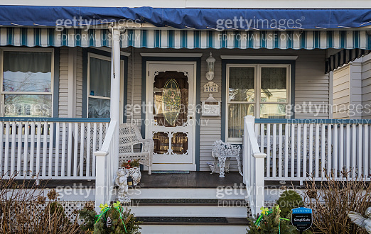 Victorian Homes painted in complimentary colors in quaint historic beach town