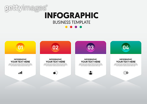 Modern infographic business template and data visualization with 4 options