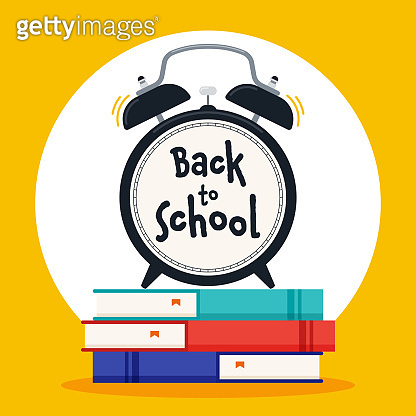 Back to school concept background decorative with various school stationery flat design