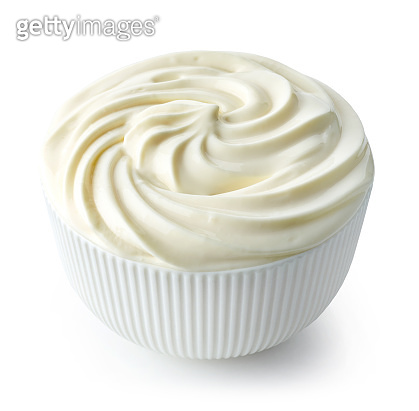 bowl of whipped cream cheese