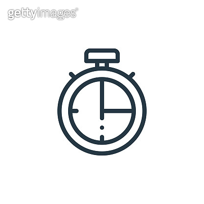 timer icon vector from american football concept. Thin line illustration of timer editable stroke. timer linear sign for use on web and mobile apps, logo, print media..