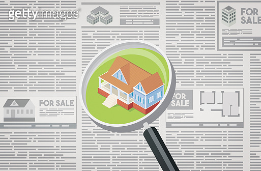 Real estate ad in the newspaper