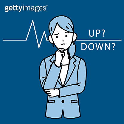 Business illustration Money up down Woman