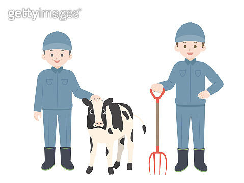 Dairy farmer illustration