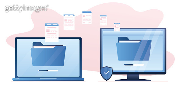 Copying files between devices. Upload and download folders and documents