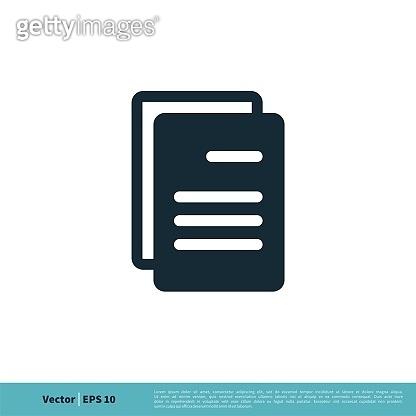 Document Form Icon Vector Logo Template Illustration Design. Vector EPS 10.