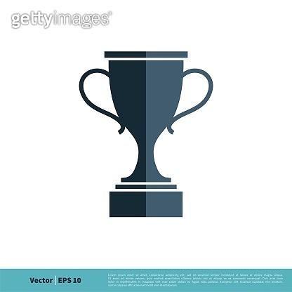 Trophy Icon Vector Logo Template Illustration Design. Vector EPS 10.