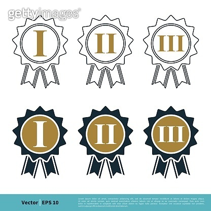 Winner Ribbon Seal Icon Vector Logo Template Illustration Design. Vector EPS 10.