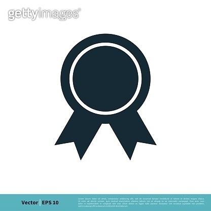 Seal Ribbon Rosette Emblem Icon Vector Logo Template Illustration Design. Vector EPS 10.