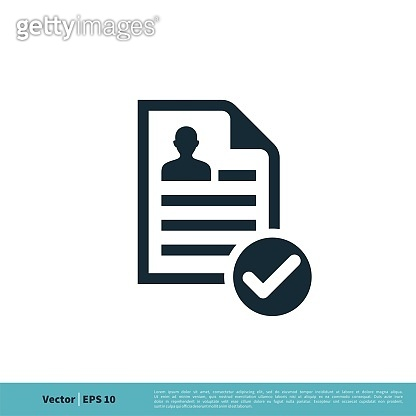 Paper / Document Icon Vector Logo Template Illustration Design. Vector EPS 10.