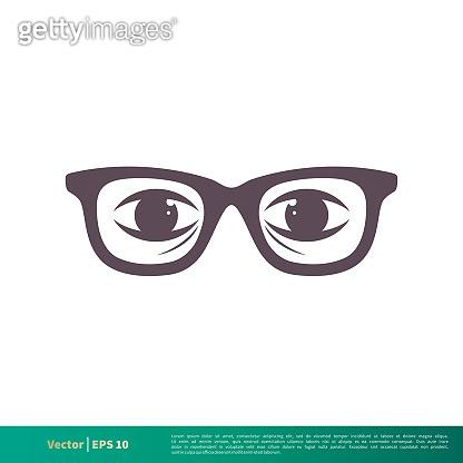 Eyeglasses Icon Vector Logo Template Illustration Design. Vector EPS 10.