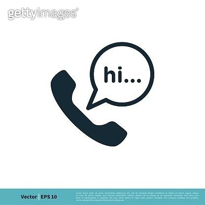 Phone Icon Vector Logo Template Illustration Design. Vector EPS 10.