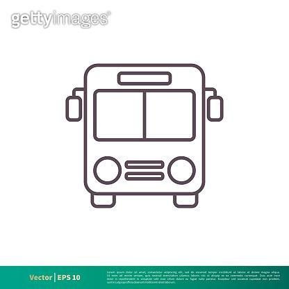 Bus, Transportation Icon Vector Logo Template Illustration Design. Vector EPS 10.