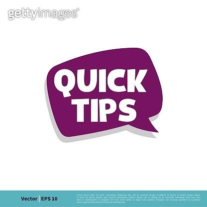 Quick Tips Letter Vector Template Illustration Design. Vector EPS 10.