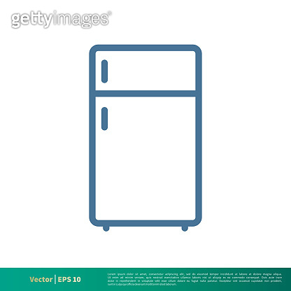 Freezer, Cooler Container Icon Vector Logo Template Illustration Design. Vector EPS 10.