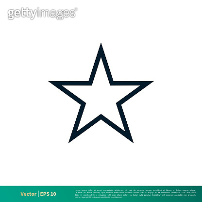Star Icon Vector Logo Template. Vector EPS 10