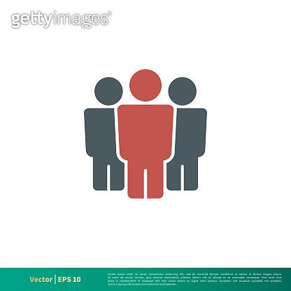 Human Figure Icon Vector Logo Template