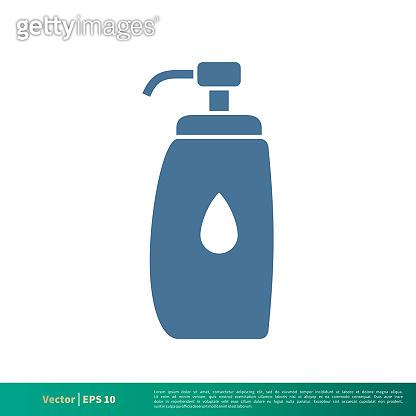 Bottle Soap Icon Vector Logo Template Illustration Design. Vector EPS 10.