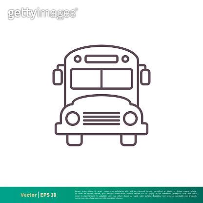School Bus, Transportation Icon Vector Logo Template Illustration Design. Vector EPS 10.