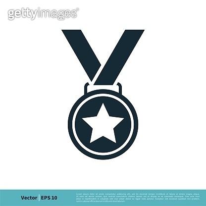 Medallion Icon Vector Logo Template Illustration Design. Vector EPS 10.