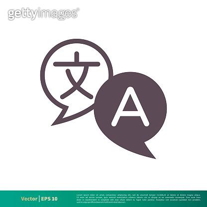 Translation, Translator Icon Vector Logo Template Illustration Design. Vector EPS 10.