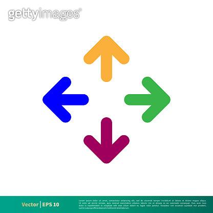 Colorful Arrow Cursor Icon Vector Logo Template Illustration Design. Vector EPS 10.