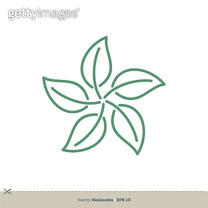Outline Leaf Vector Logo Template Illustration Design. Vector EPS 10.