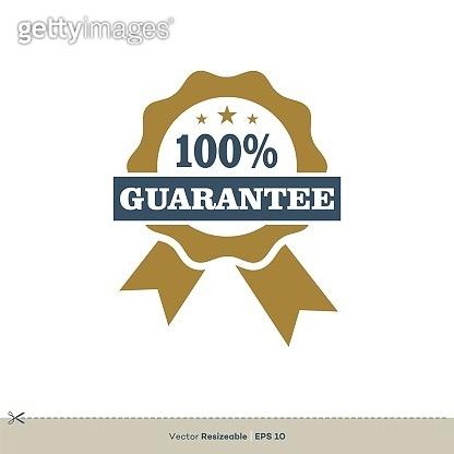Award Ribbon Guarantee Vector Logo Template Illustration Design. Vector EPS 10.